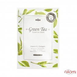 Маска-салфетка для лица Konad Green Tea Essence Mask, 17 мл