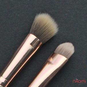 Набір пензлів для макіяжу Farres MZ-156, для тіней, для підводки, штучний ворс, 2 шт.