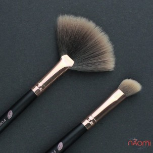 Набір пензлів для макіяжу Farres MZ-157, для тіней, для підводки, штучний ворс, 2 шт.