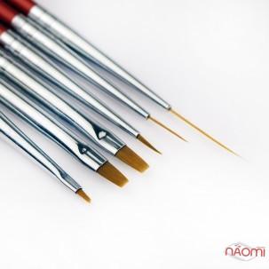 Набір пензлів для малювання MILEO, колір червоний, 6 шт.