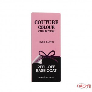 Набор база легкоснимаемая для гель-лака Couture Colour Peel Off, 9 мл и баф Couture Colour 400/3000