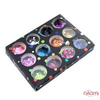 Набор декора для ногтей Starlet Professional, фигурки квадраты, 12 шт.