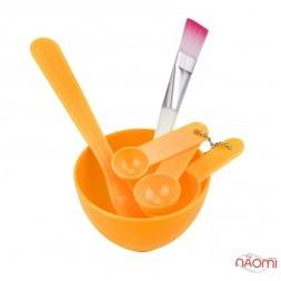 Набір для приготування масок, фарби, миска d = 8,2 см, лопатки, пензлик, шпатель, колір в асортименті