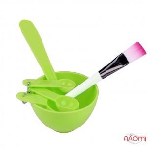 Набір для приготування масок, фарби, миска d = 10 см, лопатки, пензлик, шпатель, колір в асортименті