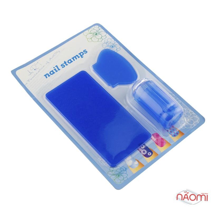 Набор для стемпинга Stamping Nail Art, штамп, скрапер и пластина, фото 4, 80.00 грн.