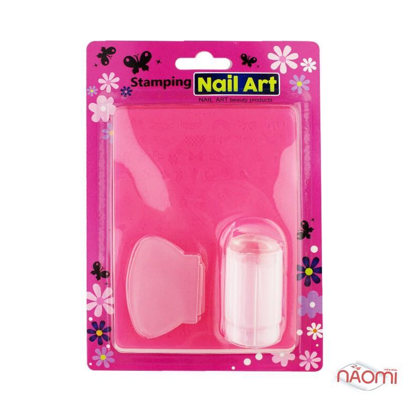 Набор для стемпинга Stamping Nail Art, штамп, скрапер и пластина, фото 2, 80.00 грн.