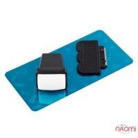 Набор для стемпинга, штамп, скрапер и пластина, цвет черный