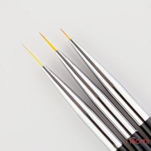 Набор кистей для рисования, с цветной черной ручкой, 3 шт.