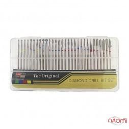 Набор насадок на фрезер Diamond Drill Bit Set №2, в наборе 30 шт.