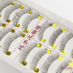 Накладные ресницы на прозрачной ленте, кукольный эффект 10 пар, №217