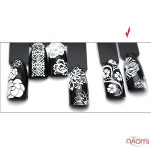 Наклейка для ногтей 3D DP 202 Цветы, перья