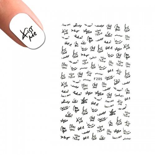 Наклейка для ногтей LBS F 205 Надписи, фото 1, 25.00 грн.