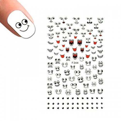Наклейка для ногтей LBS F 344 Смайлы, фото 1, 25.00 грн.