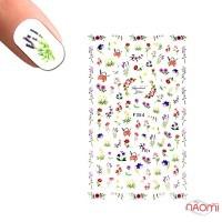 Наклейка для ногтей LBS F 354 Цветы