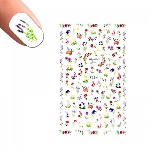 Наклейка для ногтей LBS F 354 Цветы, фото 1, 25.00 грн.