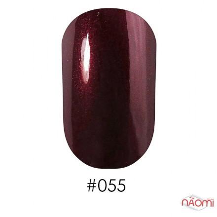 Лак Naomi 055 темный бордовый, 12 мл, фото 1, 60.00 грн.