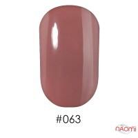 Лак Naomi 063 нежный молочно-шоколадный с легким персиковым отливом, 12 мл