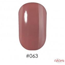 Лак Naomi 063 ніжний молочно-шоколадний з легким персиковим відливом, 12 мл