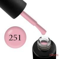 Гель-лак Naomi 251 Pearl Sapphire теплый розовый, 6 мл