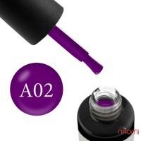 Гель-лак Naomi Aquarelle А 02 фиолетовая фуксия, 6 мл