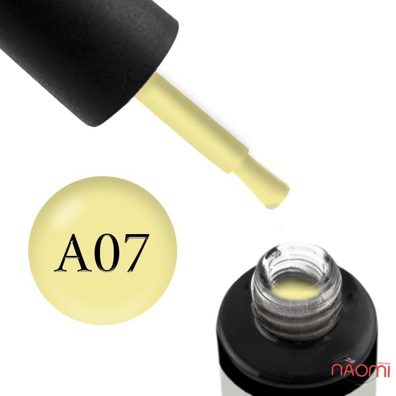 Гель-лак Naomi Aquarelle А 07 желтый, 6 мл, фото 1, 95.00 грн.