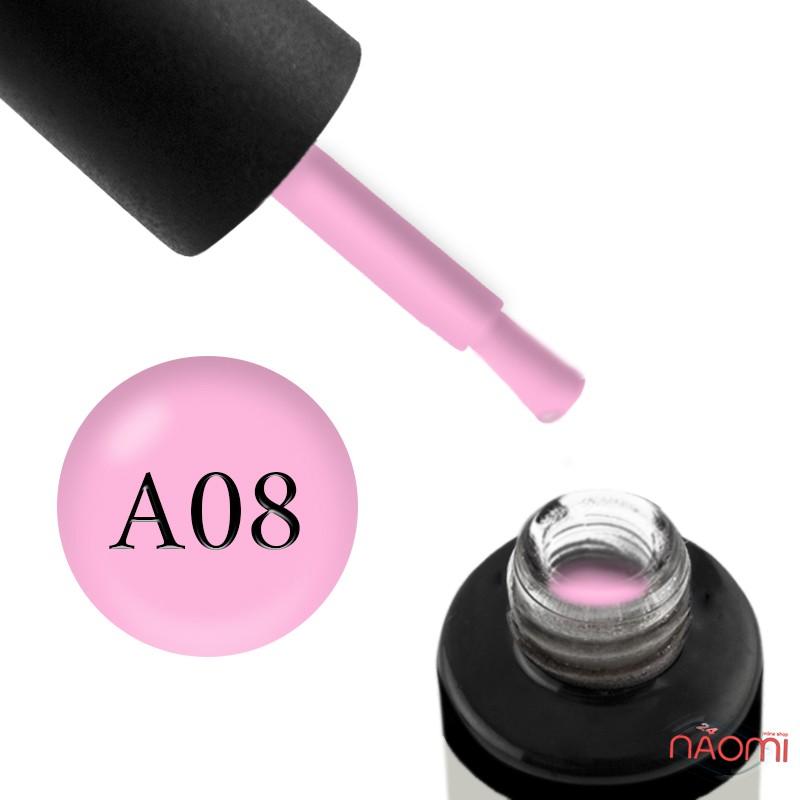 Гель-лак Naomi Aquarelle А 08 розовый, 6 мл, фото 1, 95.00 грн.