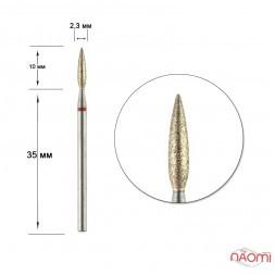Насадка з натуральним алмазним напиленням 243.514к.023х, для обробки кутикули в манікюрі, педикюрі