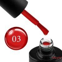Гель-лак NUB Glass Gel 03 Garnet красный, 11,8 мл