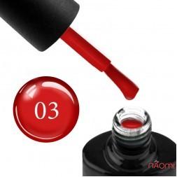 Гель-лак NUB Glass Gel 03 Garnet червоний, 11,8 мл
