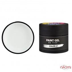 Гель-краска NUB Paint Gel 01, цвет белый, 5 г