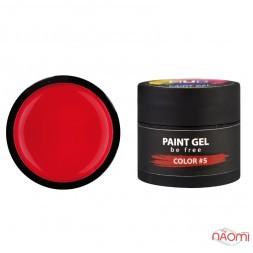 Гель-краска NUB Paint Gel 05, цвет красный, 5 г