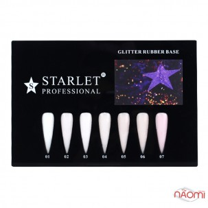 База каучукова для гель-лаку Starlet Professional Glitter Rubber Base 05, 10 мл