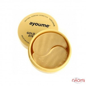 Патчі гідрогелеві під очі Ayoume Gold + Snail Eye Patch з золотом і муцином равлика, 60 шт.