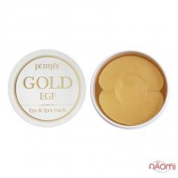 Патчи гидрогелевые под глаза PETITFEE Gold & EGF Eye & Spot Patch с золотом, 60+30 шт.