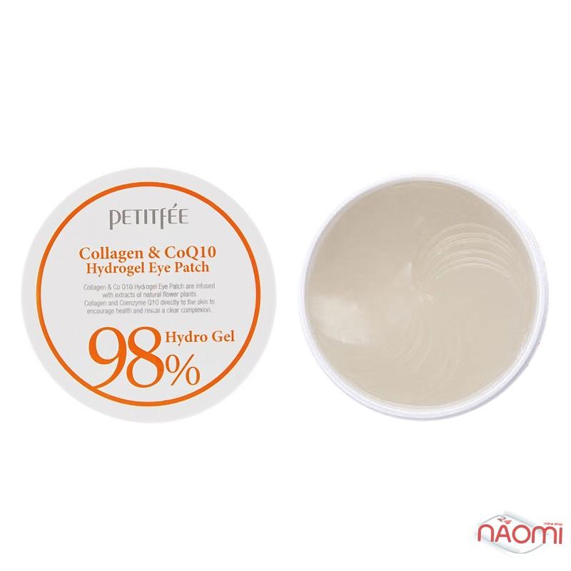 Патчі гідрогелеві під очі PETITFEE Collagen and Co Q10, колагеном і коензимом, 60 шт., фото 1, 395.00 грн.