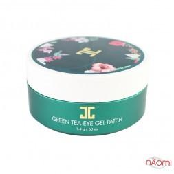 Патчи под глаза Jayjun Green Tea Eye Gel Patch, с экстрактом зеленого чая, 60 шт.