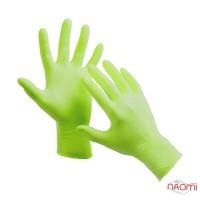 Рукавички нітрилові упаковка - 5 пар, розмір S (без пудри), зелені