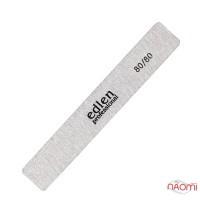 Пилка для нігтів Edlen Professional 80/80 Grey, пряма широка