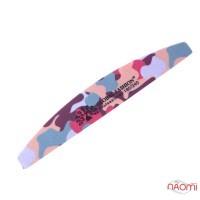 Пилка для ногтей Global Fashion 180/240, полукруг, цвет в ассортименте