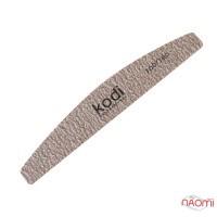 Пилка для ногтей Kodi Professional 100/180 полумесяц, цвет темно-серый
