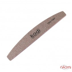 Пилка для ногтей Kodi Professional 180/180 полумесяц, цвет темно-серый