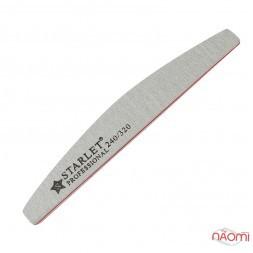 Пилка для ногтей Starlet Professional 240/320, полукруг