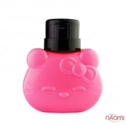 Пластиковая емкость для жидкостей с дозатором, Hello  Kitty, 300 мл, цвет розовый
