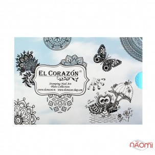 Пластина для стемпинга EL Corazon The Best plates-21 Тигр, 14,5х9,5 см