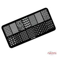 Пластина для стемпинга XY-E03 Геометрия, узоры