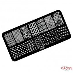 Пластина для стемпінга XY-E03 Геометрія, візерунки