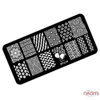 Пластина пластиковая для стемпинга Kodi Professional L 14, 6х12 см