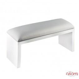 Подлокотник для рук Rainbow Store настольный, на ножках 32х11х16 см, цвет серебро