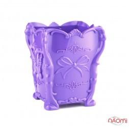 Підставка для пензликів і пилочок, пластикова, колір фіолетовий