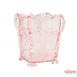 Підставка для пензликів і пилочок, пластикова, колір прозоро-рожевий